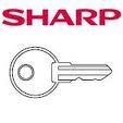 kassa -sleutels-sharp